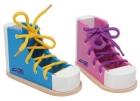 Zapatos para enhebrar coloridos