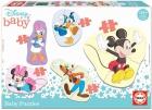 Baby Puzzles Mickey y sus amigos, 5 puzzles progresivos