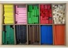 Caja de regletas de madera de distinto tamaño (300 piezas) Faibo