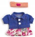 Conjunto de ropa entretiempo flores (21 cm)