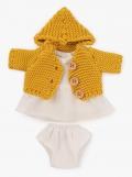 Conjunto chica chaqueta de punto color mostaza (21 cm)