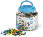 Pegs. Bote 2600 pinchos 10mm. Colores clásicos para mosaicos