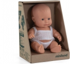 Baby caucásico niño con ropa (21cm)