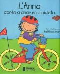 L´Anna aprèn a anar en bicicleta.
