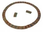 Domino circular de números de madera