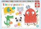 5 Baby Puzzles (Lemon Ribbon)