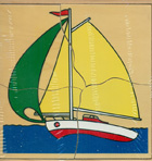 Puzzle de madera barco