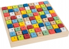 Sudoku colorido de madera
