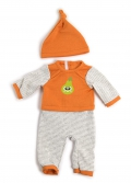 Pijama invierno naranja (40cm)