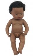 Baby africano niño con pelo (38 cms)