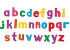 Caja de letras magnéticas minúsculas (66 piezas)