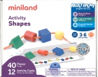 Estuche de formas geométricas ensartables. Activity shapes (40 piezas)