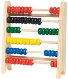Ábaco madera 60 bolas colores