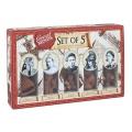 Set de 5 rompecabezas de madera. Las 5 grandes señoras. Great Minds