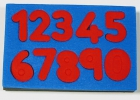 Esponjas estampación números