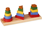 Apilable 3 figuras geométricas de madera