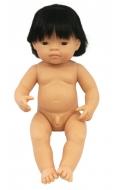 Baby asiático niño con pelo (38 cms)