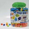 Pegs. Bote 1300 pinchos 15mm. Colores clásicos para mosaicos