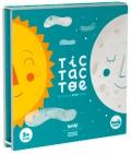 Sol y Luna Tic Tac Toe. Tres en raya de madera