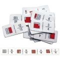 Domino de fracciones con cuadros