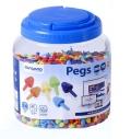 Pegs. Bote 2600 pinchos 10mm. Colores fluorescentes para mosaicos