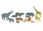 Animales salvajes con bebés 12 figuras