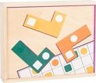 Puzle educativo de madera Tetris (Formas Geométricas)