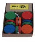 Caja de Yo-Yo de madera (12 unidades)