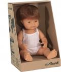 Baby caucásico pelirrojo niño con ropa (38cm)