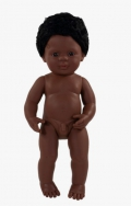 Muñeco bebé afroamericano 38 cm