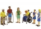 Amigos con discapacidades (6 piezas)